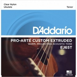 EJ65T Pro-Arté Custom Extruded Nylon Ukulele Strings, Tenor