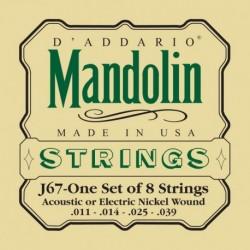 J67 Nickel Mandolin Strings, Medium, [11-39]